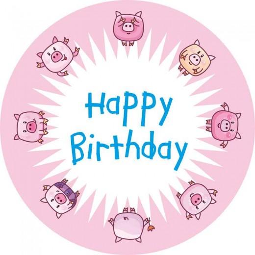 Versandtorte Happy Birthday