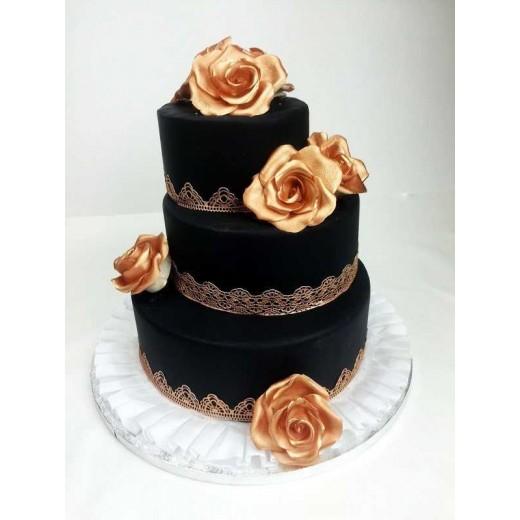 Hochzeitstorte Golden Rose