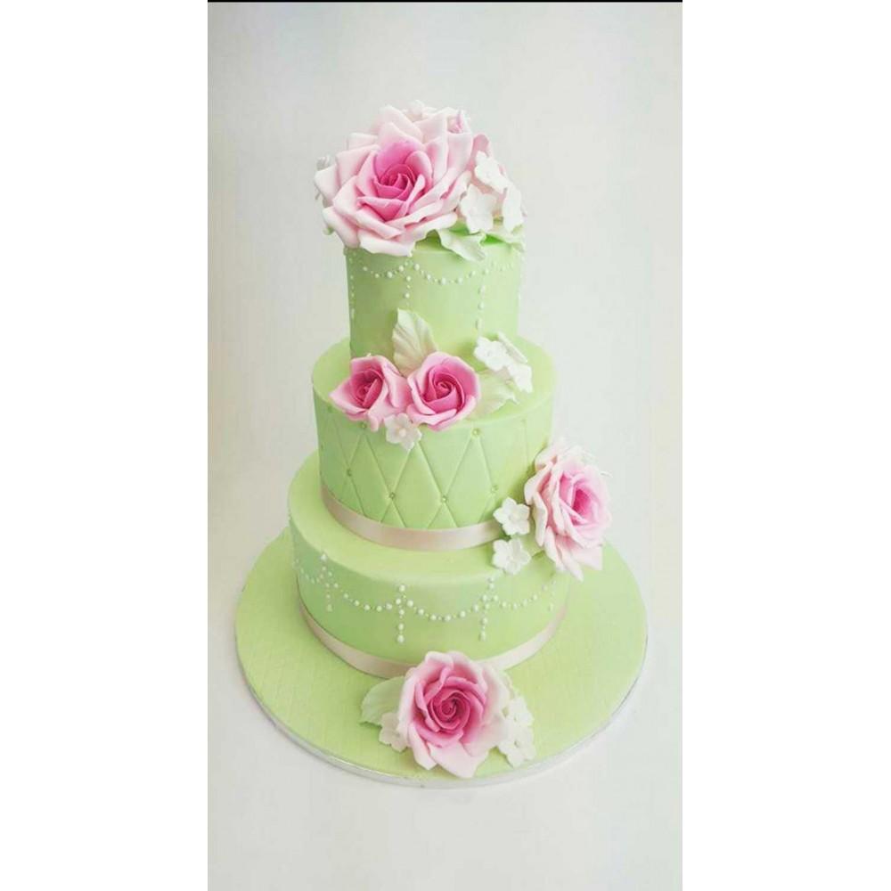 Hochzeitstorten In Pastellfarben Mit Handmodellierten Blumen