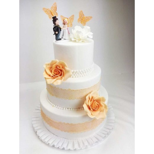 Hochzeitstorte apricot