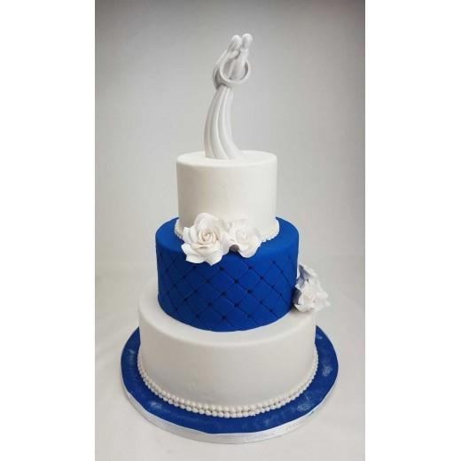 Hochzeitstorte Nachtblau