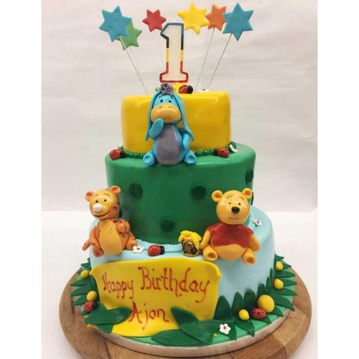 Winnie Pooh Torte (Marzipan)
