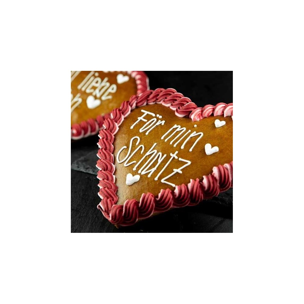 Lebkuchen Herzen Gross verpackt