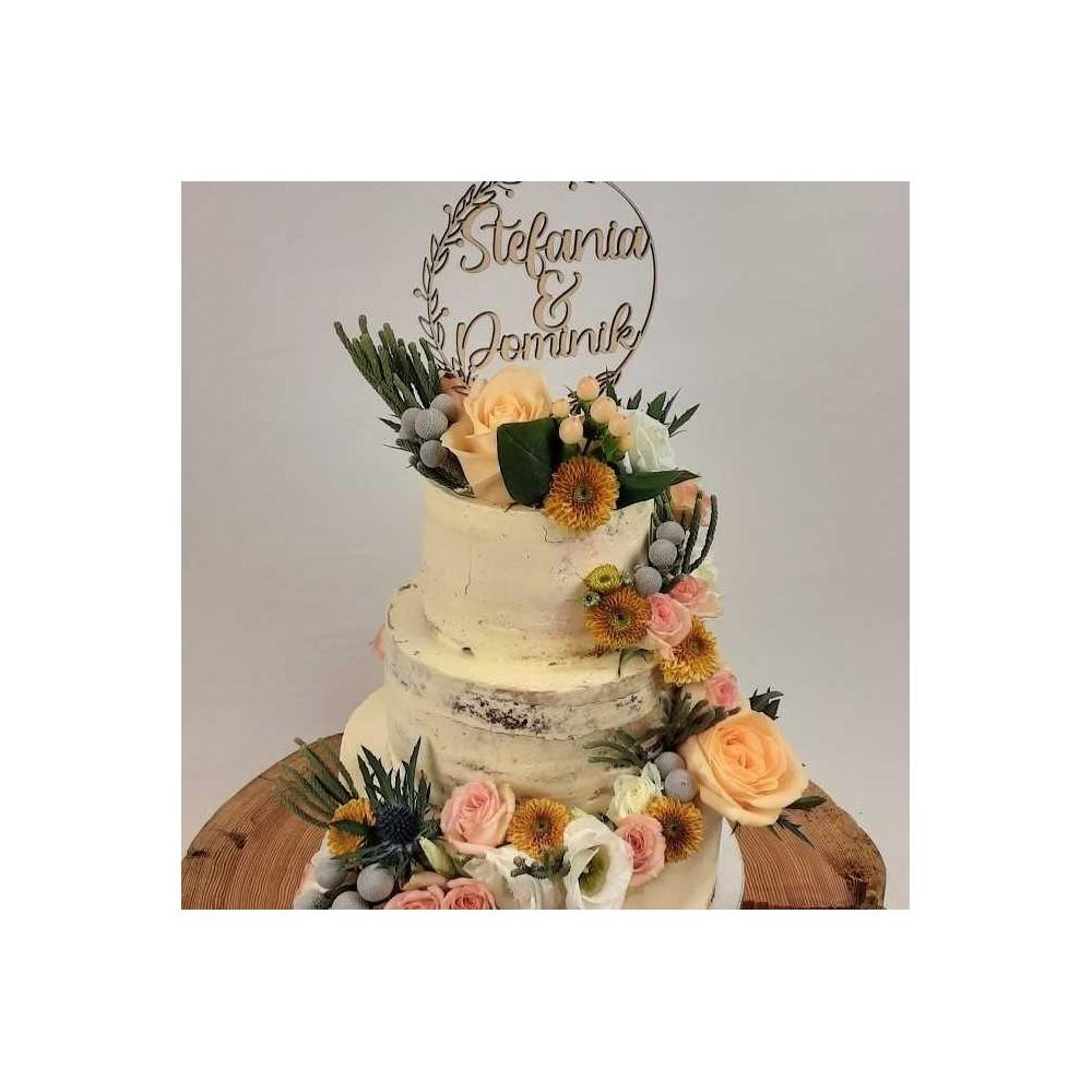 Hochzeitstorte naked Flowers