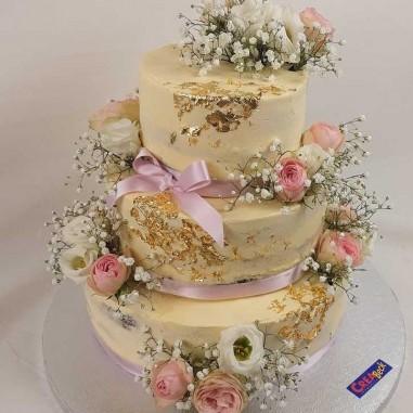 Hochzeitstorte Roses & Gold