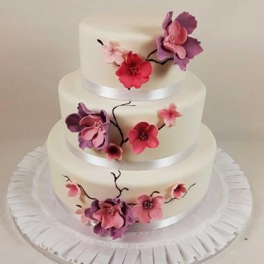 Hochzeitstorte Asia Flower