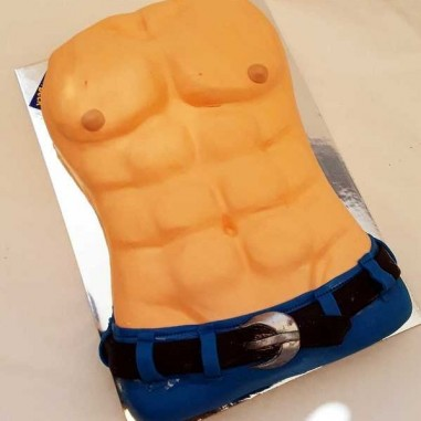 Muskelmann -Sixpack Torte