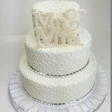 Hochzeitstorte Mr & Mrs