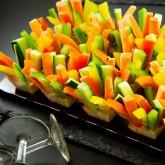 Gemüse Cup's Platte klein