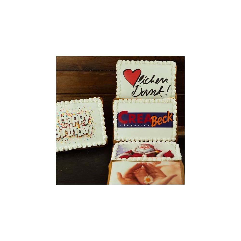 Lebkuchen mit Print 90mm x 60mm