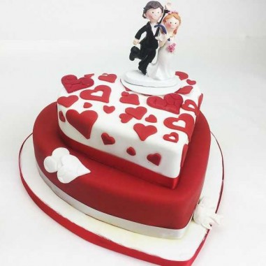 Hochzeitstorte double Heart