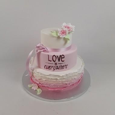 №1001 Ruffle Cake - Love is...