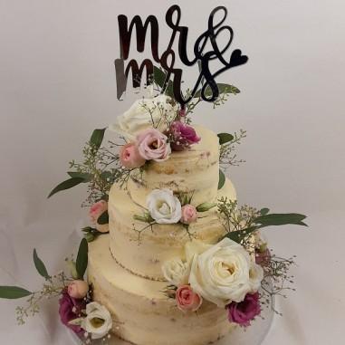 Hochzeitstorte Roses & Eukalyptus