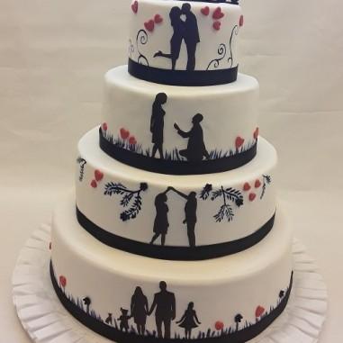 Hochzeitstorte love story