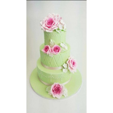 Hochzeitstorte purple Rose