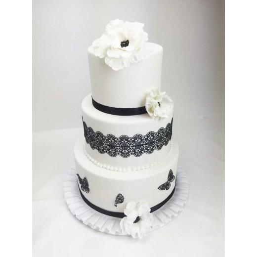 Hochzeitstorte black / white