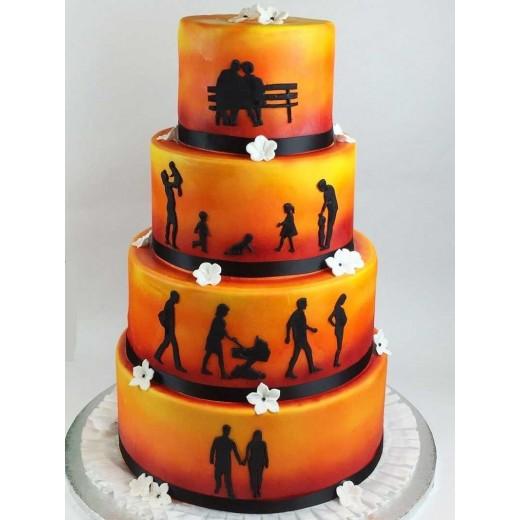 Hochzeitstorte silhouette