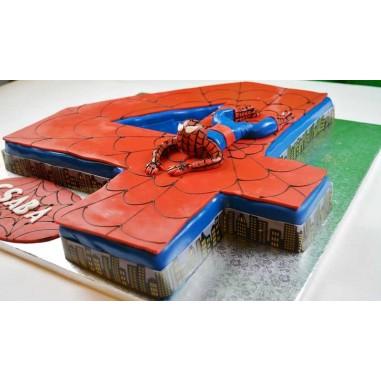 Spidermann Zahlen Torte